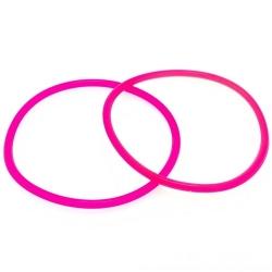 Siliconen armbandje, 3 mm, roze (1 st.)