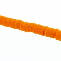 Fimokraal, schijfje, oranje, 1 x 4 mm (streng)