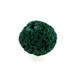 Lava kraal, rond, petrol, 12 mm (10 st.)