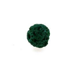 Lava kraal, rond, petrol, 10 mm (10 st.)