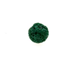 Lava kraal, rond, petrol, 6 mm (25 st.)