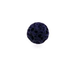 Lava kraal, rond, paars, 6 mm (25 st.)