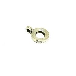 Tussenstukje, zilver, rond met oogje, 10 mm (10 st.)