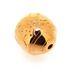 Metallook, kraal, rond, roségoud, 20 mm (3 st.)