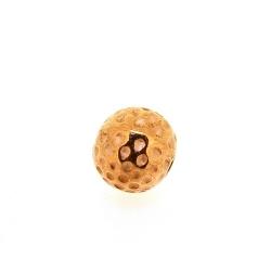 Metallook, kraal, rond, roségoud, 8 mm (10 st.)