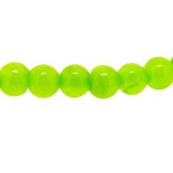 Gekleurd steen kraal, rond, fel groen, 4 mm (streng)