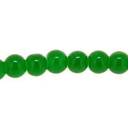 Gekleurd steen kraal, rond, groen, 4 mm (streng)