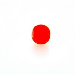 Glaskraal, rond, neon oranje, mat, 6 mm (streng)