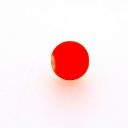 Glaskraal, rond, neon oranje, mat, 10 mm (streng)