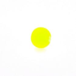 Glaskraal, rond, neon geel, mat, 6 mm (streng)
