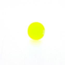 Glaskraal, rond, neon geel, mat, 8 mm (streng)