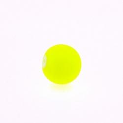 Glaskraal, rond, neon geel, mat, 10 mm (streng)
