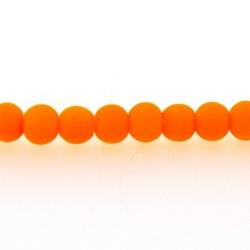 Glaskraal, rond, neon oranje (licht), mat, 4 mm (streng)