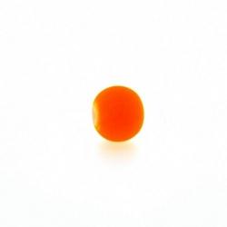 Glaskraal, rond, neon oranje (licht), mat, 8 mm (streng)