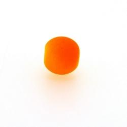 Glaskraal, rond, neon oranje (licht), mat, 10 mm (streng)
