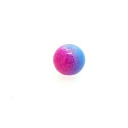 Glaskraal, rond, duotone, blauw/roze, 8 mm (streng)