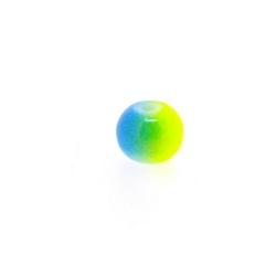 Glaskraal, rond, duotone, blauw/geel, 8 mm (streng)