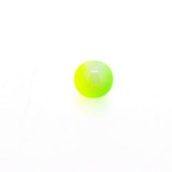 Glaskraal, rond, duotone, neongeel/neongroen, 8 mm (streng)