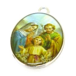 Bedel, religieus, ovaal, zilver, 28 x 20 mm (3 st.)