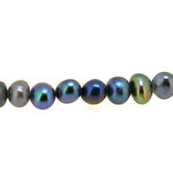 Zoetwaterparel, grijs, ca. 4 mm (5 st.)