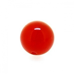 Dyed Jade, kraal, rond, ruby, 8 mm (10 st.)