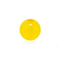 Dyed Jade, kraal, rond, geel, 6 mm (10 st,)