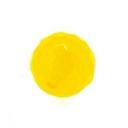 Dyed Jade, kraal, rond, facet, geel, 10 mm (10 st.)