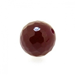 Dyed Jade, kraal, rond, facet, dark ruby, 10 mm (10 st.)