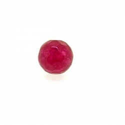 Dyed Jade, kraal, rond, facet, roze, 6 mm (10 st.)