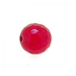 Dyed Jade, kraal, rond, facet, roze, 10 mm (10 st.)