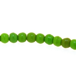 Gekleurd Turquoise kraal, rond, groen, 3 mm (streng)