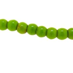 Gekleurd Turquoise kraal, rond, groen, 4 mm (streng)