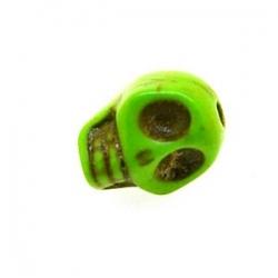 Gekleurd Turquoise kraal, skull, groen, 10 mm (10 st.)