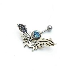 Piercing, tribal, blauw (1 st.)