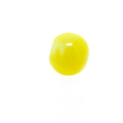 Glaskraal, rond, geel, 6 mm (20 st.)