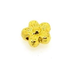 Metalen kraal, bloemetje, goud, 8 mm (10 st.)