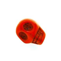 Gekleurd Turquoise kraal, skull, rood, 12 mm (5 st.)