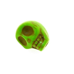Gekleurd Turquoise kraal, skull, groen, 12 mm (5 st.)