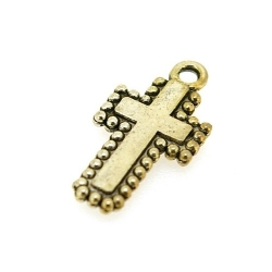 Bedel, religieus, kruisje, zilver, 20 x 10 mm (5 st.)