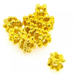 Metalen kraal, blokje, goud, 3 mm (50 st.)
