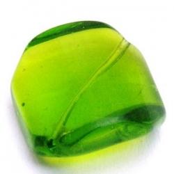 Glaskraal, vierkant, schuin rijggat, groen, 20 mm (5 st.)