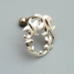 Piercing, tribal, zilver (1 st.)