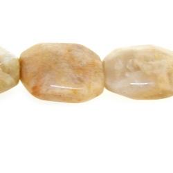 Sunstone kraal rechthoek facetten 20 x 16 mm (5 st.)