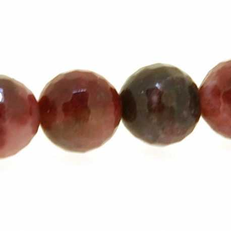 Red Agate, kraal, rond, facetten, 10 mm (5 st.)
