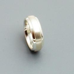 Ring, sterling zilver, mat/glans, maat 18 (1 st.)