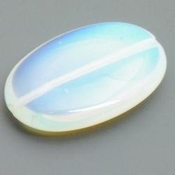Maansteen kraal, ovaal, 30 x 20 mm (3 st.)