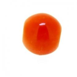Glaskraal, rond, oranje, 8 mm (10 st.)