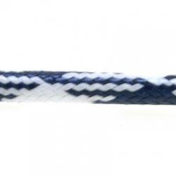 Koord, rond, donkerblauw/wit, 4 mm (1 mtr.)