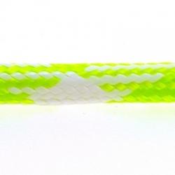 Koord, rond, limegroen/wit, 4 mm (1 mtr.)