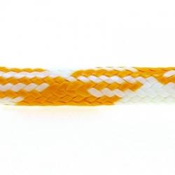 Koord, rond, geel/wit, 4 mm (1 mtr.)